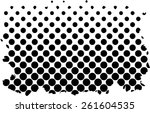 halftone dots background   logo ... | Shutterstock .eps vector #261604535