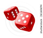 vector red dices | Shutterstock .eps vector #26160694