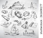 Sea Icon Set. Sketch Converted...