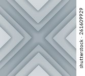 abstract gray and white... | Shutterstock . vector #261609929