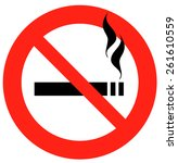 no smoking sign  vector...   Shutterstock .eps vector #261610559