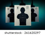 shooting targets hanging on a... | Shutterstock . vector #261620297