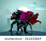 superhero team  team of... | Shutterstock .eps vector #261633869
