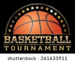 basketball tournament is an... | Shutterstock . vector #261633911