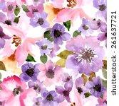 seamless wallpaper with summer... | Shutterstock .eps vector #261637721