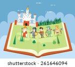 fairy tales history books... | Shutterstock .eps vector #261646094
