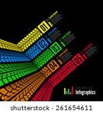 tire tracks infographics... | Shutterstock .eps vector #261654611