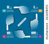 hands circle vector info... | Shutterstock .eps vector #261658451