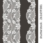 lace ribbon. | Shutterstock .eps vector #261659381