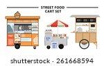 street food cart vector... | Shutterstock .eps vector #261668594