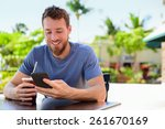 Smartphone Man Sms Texting...