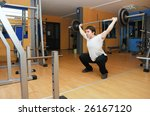 young bodybuilder in a gym at... | Shutterstock . vector #26167120