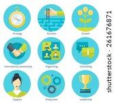 set of business flat design... | Shutterstock .eps vector #261676871
