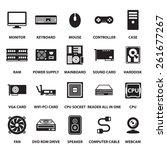 computer hardware icons set | Shutterstock .eps vector #261677267