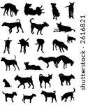 vector outline silhouettes of... | Shutterstock .eps vector #2616821