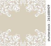 white flower frame  lace flower ... | Shutterstock .eps vector #261688409