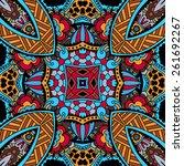 festive colorful tribal ethnic... | Shutterstock . vector #261692267