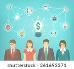 modern flat vector illustration ... | Shutterstock .eps vector #261693371