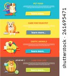 icon set with home animals... | Shutterstock .eps vector #261695471