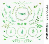 set of floral elements for... | Shutterstock .eps vector #261700661