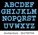 vector cinema font. | Shutterstock .eps vector #261704744