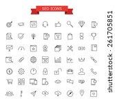 seo icons | Shutterstock .eps vector #261705851
