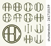 set 1 template letters to... | Shutterstock .eps vector #261710159