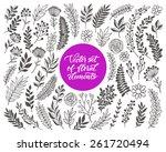 vector floral set. graphic...   Shutterstock .eps vector #261720494