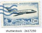 Vintage World Postage Stamp Ephemera france(editorial) - stock photo