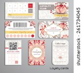 set of loyalty cards. tree of... | Shutterstock .eps vector #261734045