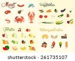 food icon set | Shutterstock .eps vector #261735107