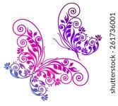 butterflies design | Shutterstock .eps vector #261736001
