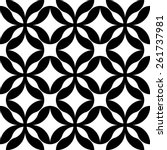 black and white geometric... | Shutterstock .eps vector #261737981