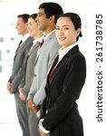 multi ethnic business people...   Shutterstock . vector #261738785