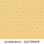 seamless tacha brown isometric... | Shutterstock .eps vector #261740609