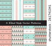 Tribal Style Geometric Pattern...