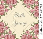 vector illustration with text... | Shutterstock .eps vector #261743204