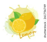 lemon | Shutterstock .eps vector #261756749