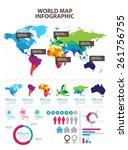 world map | Shutterstock .eps vector #261756755