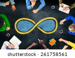 infinity eternity endless loop... | Shutterstock . vector #261758561