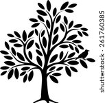 decorative tree | Shutterstock .eps vector #261760385