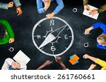 Stock photo compass longitude latitude navigation direction adventure concept 261760661