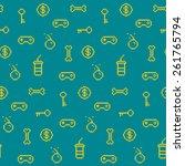 seamless oldschool gaming... | Shutterstock .eps vector #261765794