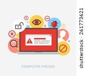 computer viruses vector... | Shutterstock .eps vector #261773621