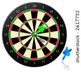 Darts - Vector - stock vector