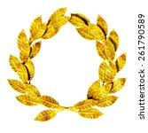 gold laurel wreath isolated on... | Shutterstock . vector #261790589