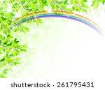 leaf fresh green background   Shutterstock .eps vector #261795431