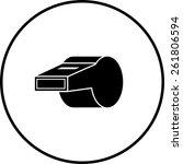 whistle symbol | Shutterstock .eps vector #261806594