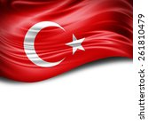 Turkey Flag And White...