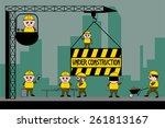 under construction workers... | Shutterstock .eps vector #261813167